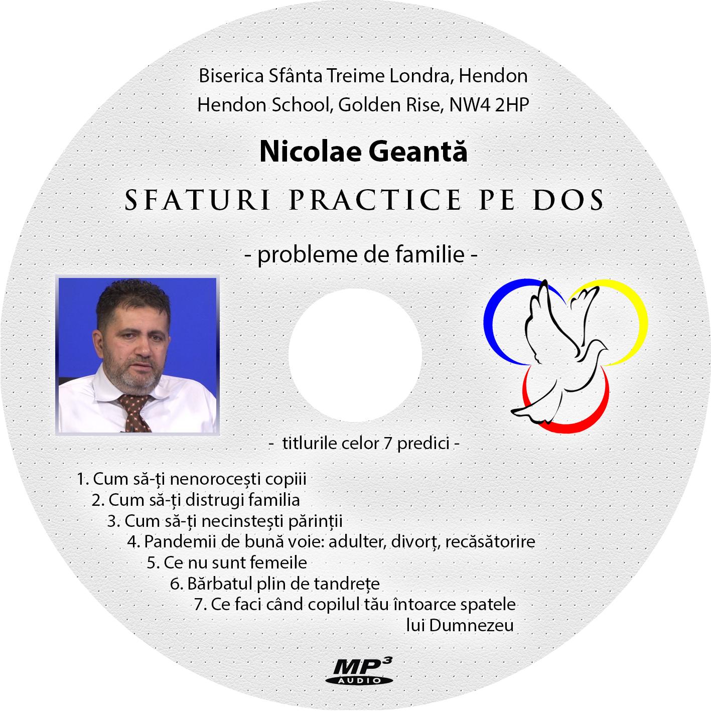 Nicolae Geantă - CD predici familie