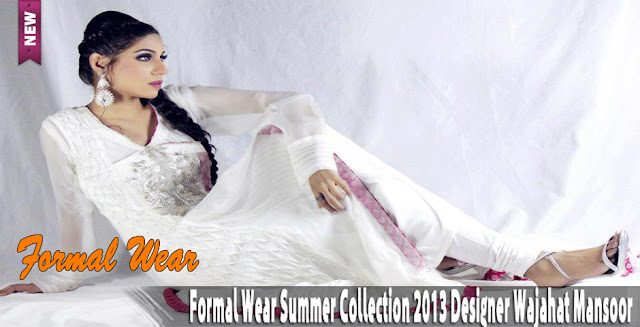 Formal Wear Summer Collection 2013 | Designer Wajahat Mansoor