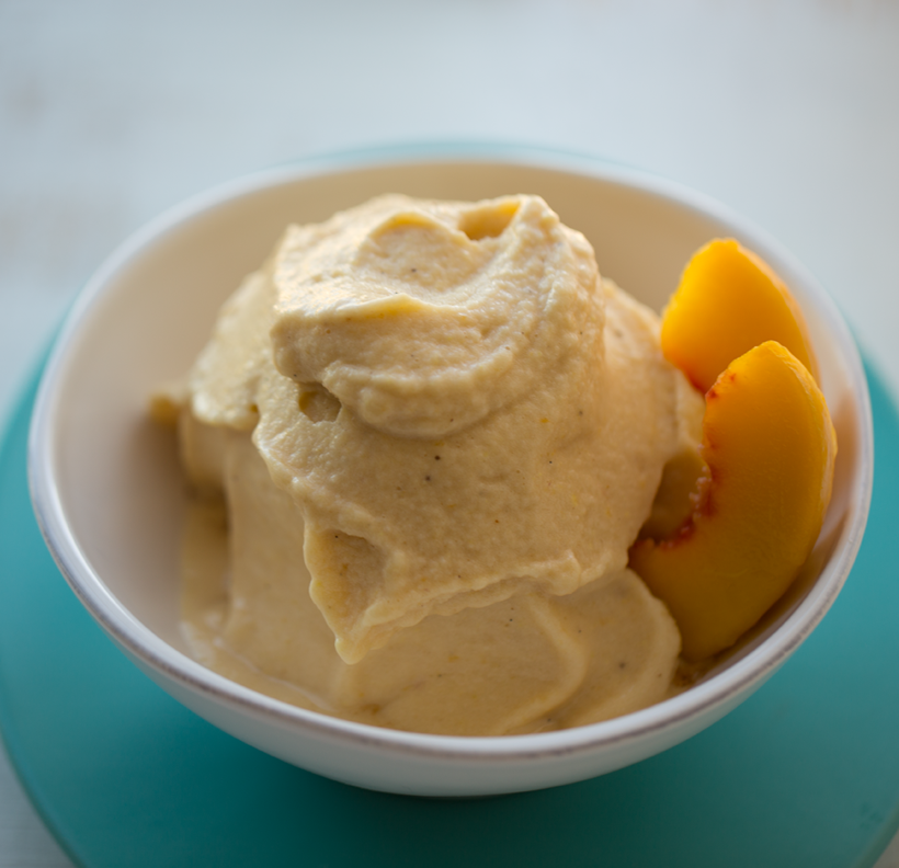 Ginger-Peach Banana Ice Cream