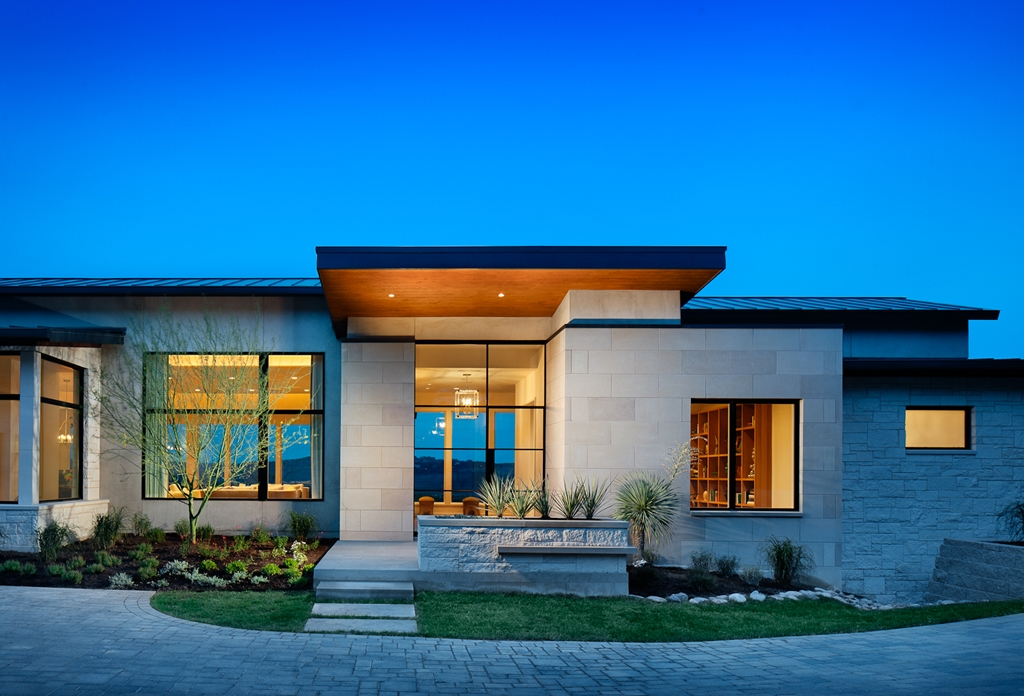 Beautiful house on the hill by james d larue architects for Amazing house design architecture