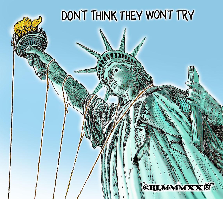 Pulling Down Liberty