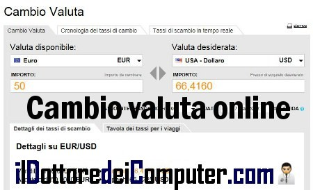 cambio valute online