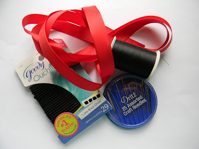 Ribbon bow hair ties- inspired by Glee