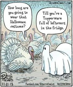 Turkey costume, how long are you going to wear that costume?, tupperware thanksgiving, turkey thanksgiving joke