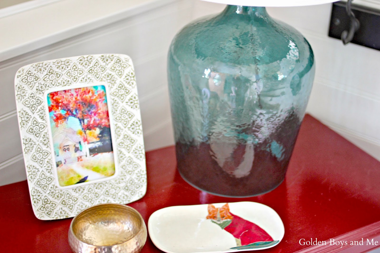 Target Threshold glass lamp teal-www.goldenboysandme.com