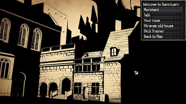 Paper Sorcerer Sanctuary town screenshot