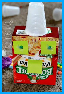 chef boyardee pizza box, eco craft, summer kids fun