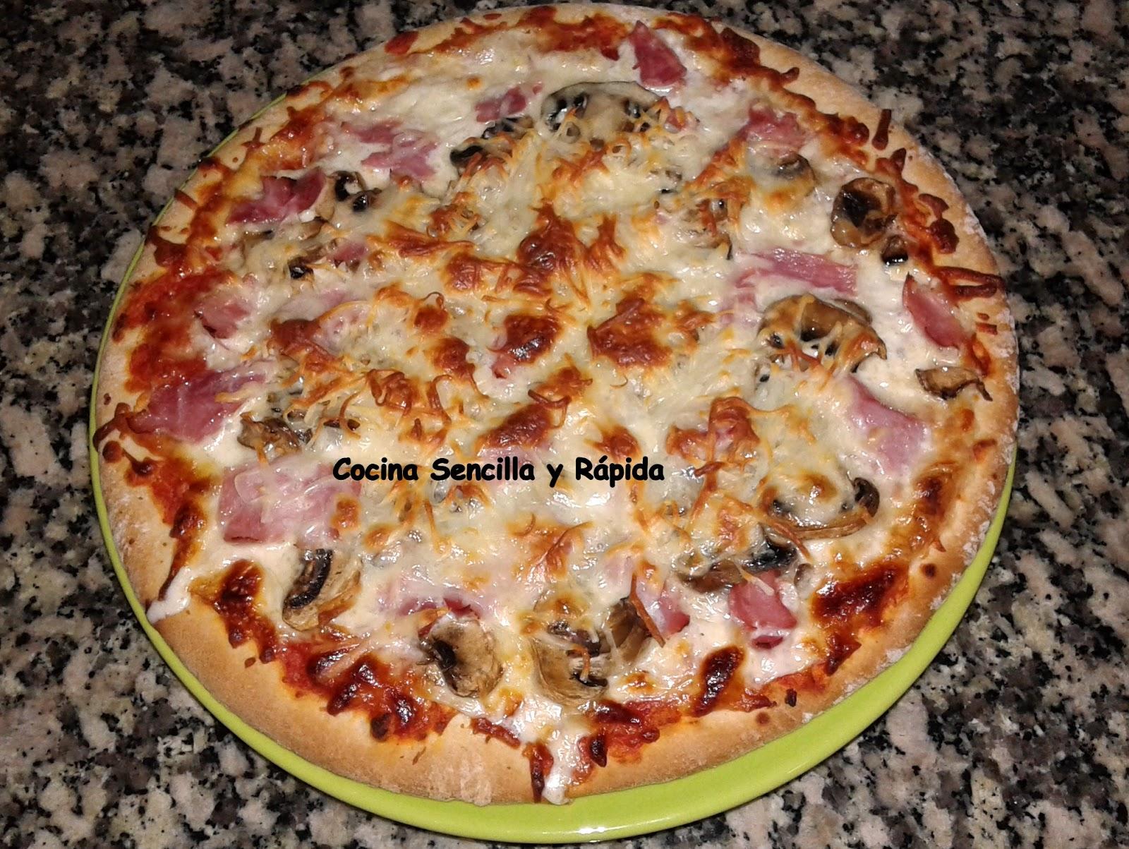 Cocina sencilla y r pida pizza carbonara a mi manera for Cocina rapida y sencilla