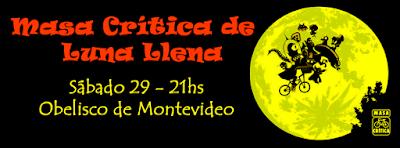 Bicicleteada Masa crítica de luna llena (Obelisco de Montevideo, 29/ago/2015)