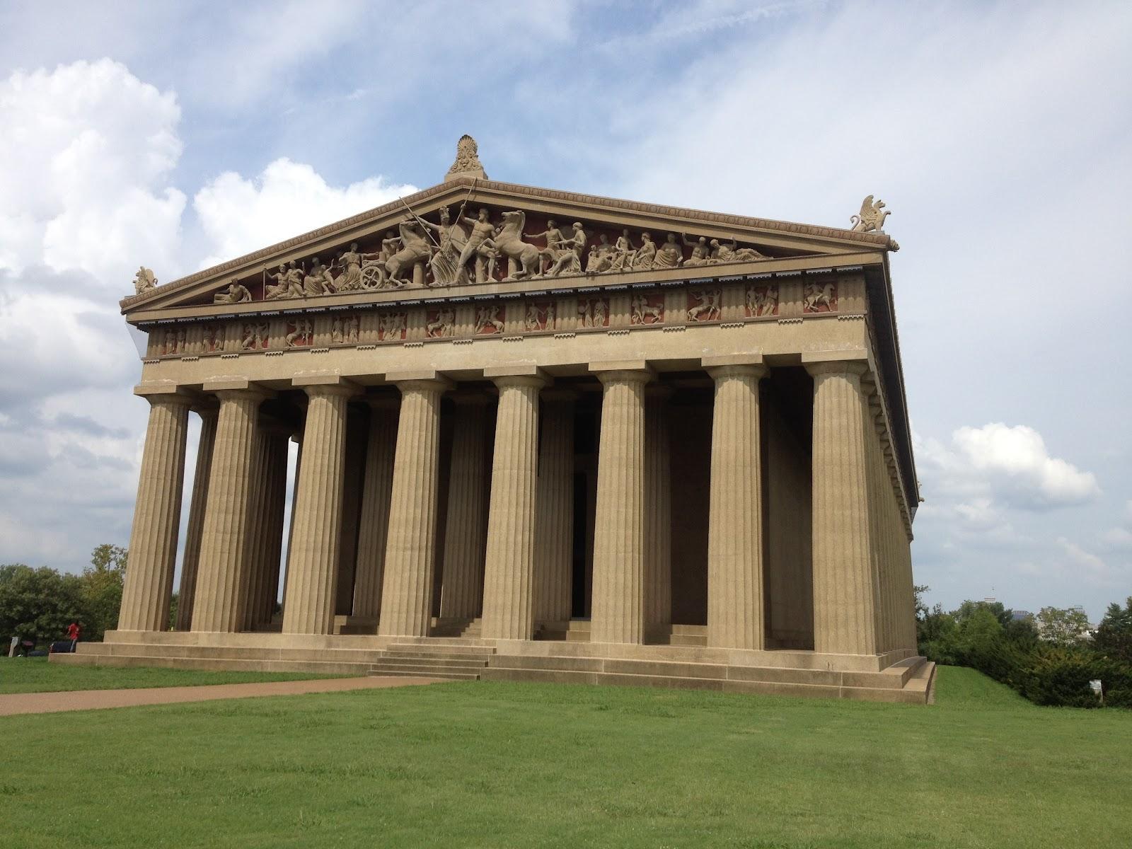 Nashville TN's Parthenon and 41 foot goddess  VFN Torch