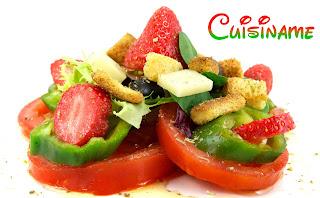ensalada de verano, ensalada con fruta, receta light, recetas de cocina, recetas sanas, recetas originales, curiosidades, fresas, humor