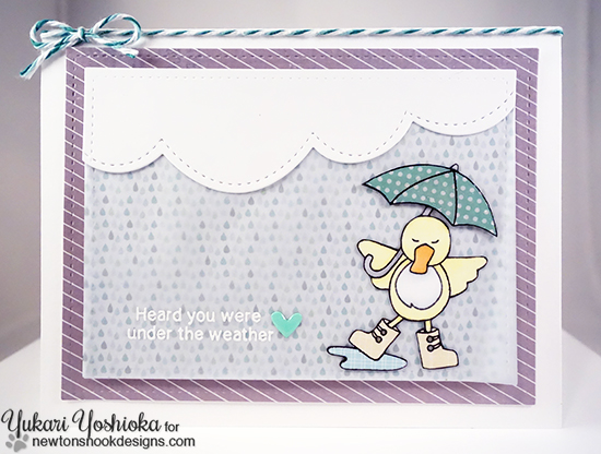 Under the Weather Card by Yukari Yoshioka | Spring Showers Stamp set by Newton's Nook Designs