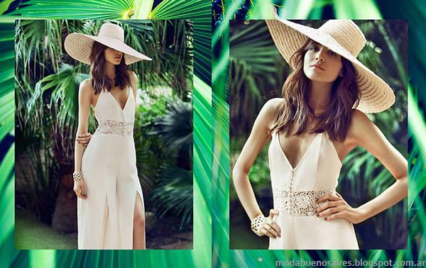 MAB primavera verano 2015 monos, vestidos, palazzos, blusas de moda 2015.