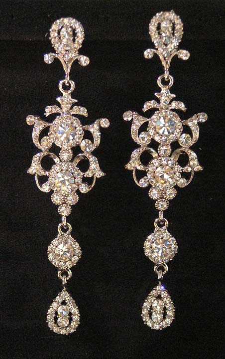 ok wedding gallery bridal chandelier earrings bridal