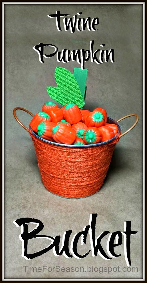 Twine Wrapped Pumpkin Bucket | A Time for Seasons