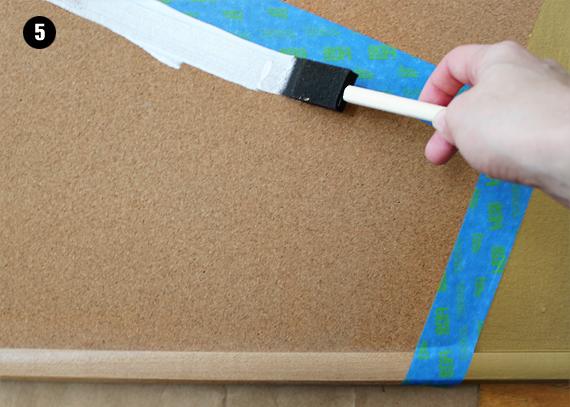 DIY Painted Bulletin Board Tutorial // Bubby and Bean