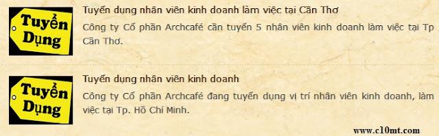 Archcafé Authentic Vietnamese Coffee tuyển dụng nhân viên