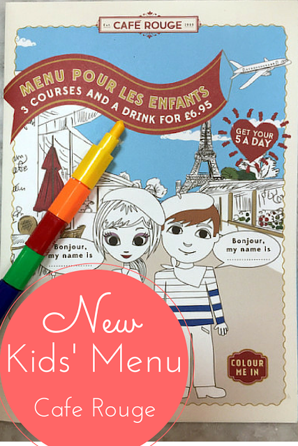 A Brand New Children's Menu at Cafe Rouge for £6.95