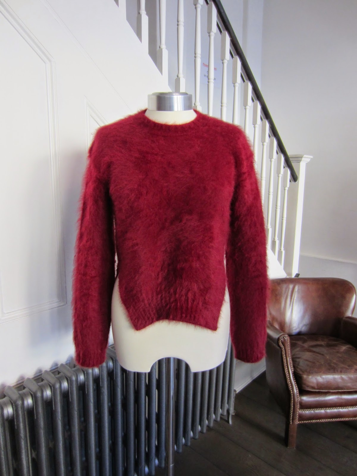 Celine Burgundy Angora Mix Knit