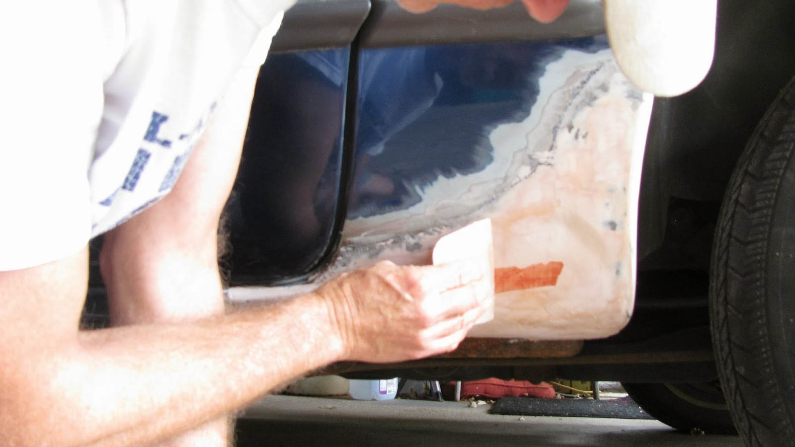 how to use body filler on rust