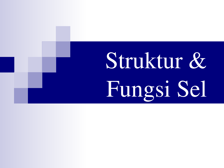 Struktur dan Fungsi Sel - Biologi