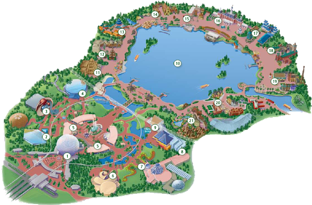 Mapa Parque Epcot Center Disney Orlando