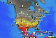 Radiación UV en Norteamérica.