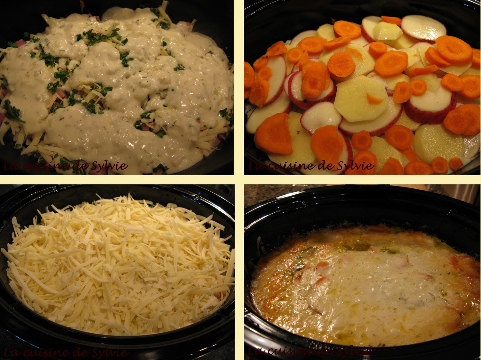 La cuisine de sylvie gratin de pommes de terre au jambon la mijoteuse - Gratin de pommes de terre au four ...