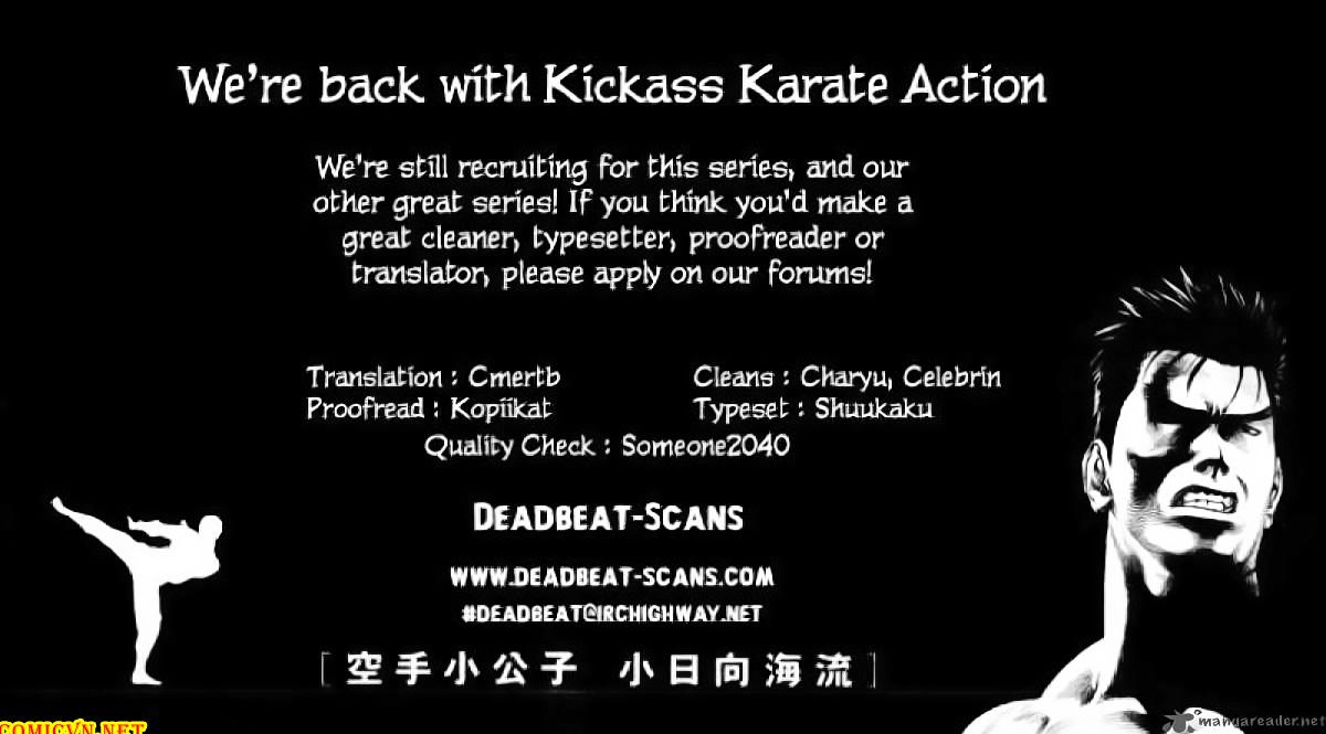 Karate Shoukoushi Kohinata Minoru chap 54 Trang 22