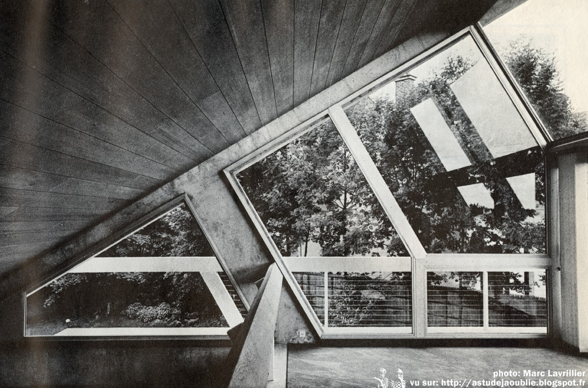 As tu d j oubli 50s 60s 70s architecture versailles maison drusch cl - Claude parent architecte ...