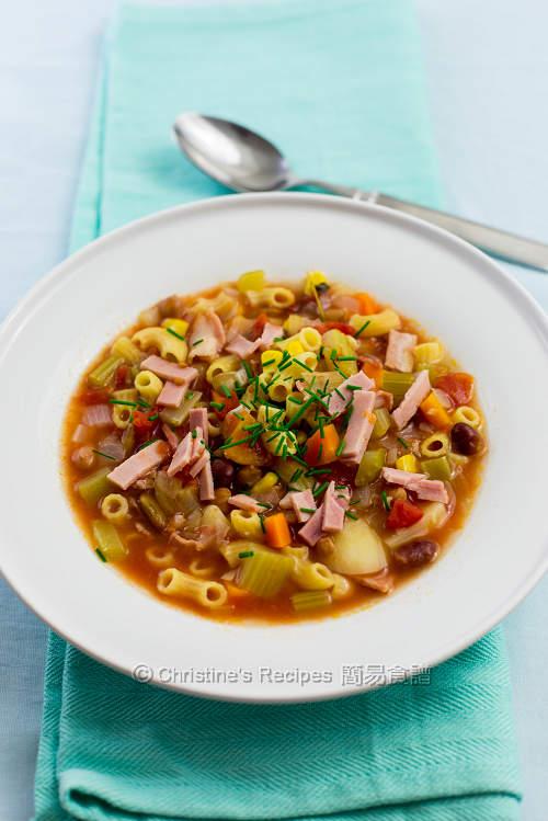 意式雜菜湯 Minestrone Soup03