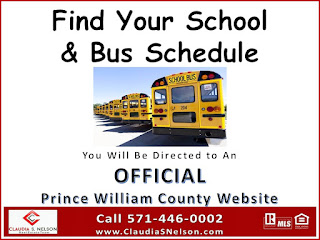Prince William County Schools, how to find your assigned school based on address, bus stop schedule, Woodbridge VA
