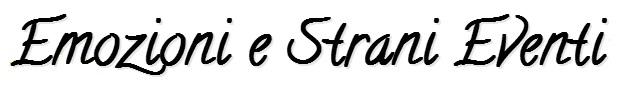emozioni e strani eventi event and event planner font per logo 1