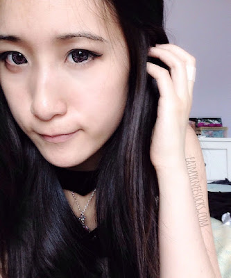 More photos of me wearing the Geo Xtra Heart Pink circle lenses from Geocolouredlenses.com.