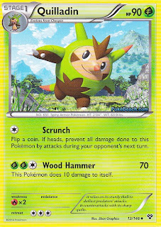 Quilladin Pokemon X and Y Card