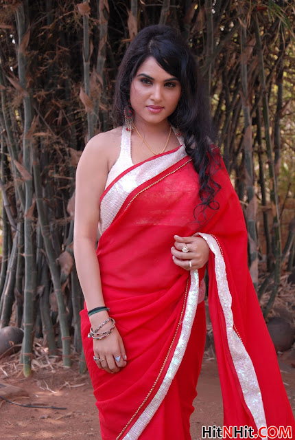 Kavya Singh Saree Photos Kavya Singh Hot Photos in Red