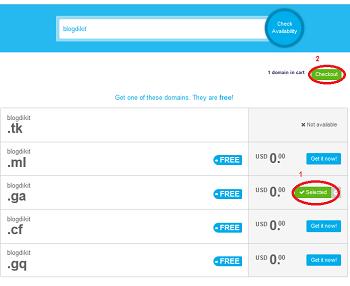 daftar domain gratis di freenom