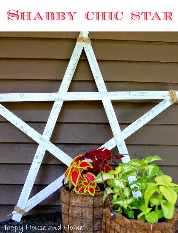 4th of July decor, DIY star, star with yard sticks, wooden star,