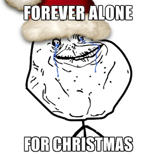 christams meme forever alone guy