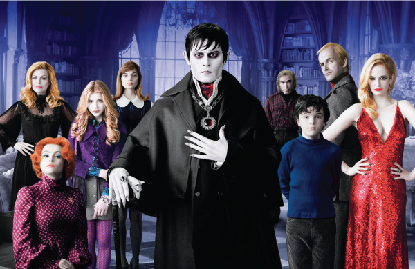 Dark Shadows, Sombras da Noite, johnny depp, tim burton, eva green, Michelle Pfeiffer, Helena Bonham Carter