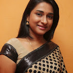 Ramya Shankar Photos in Saree at Thalaimuraigal Movie First Look Press Meet