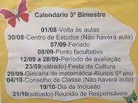 Calendário 3º Bimestre