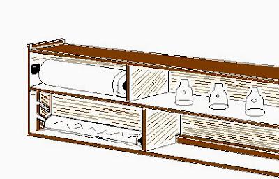 Lavori creativi fai da te l 39 hobby sul web come costruire un mobiletto pensile portarotoli e - Costruire un mobiletto ...