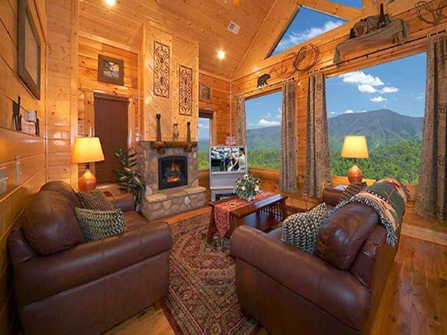 Rustic elegant living room designs