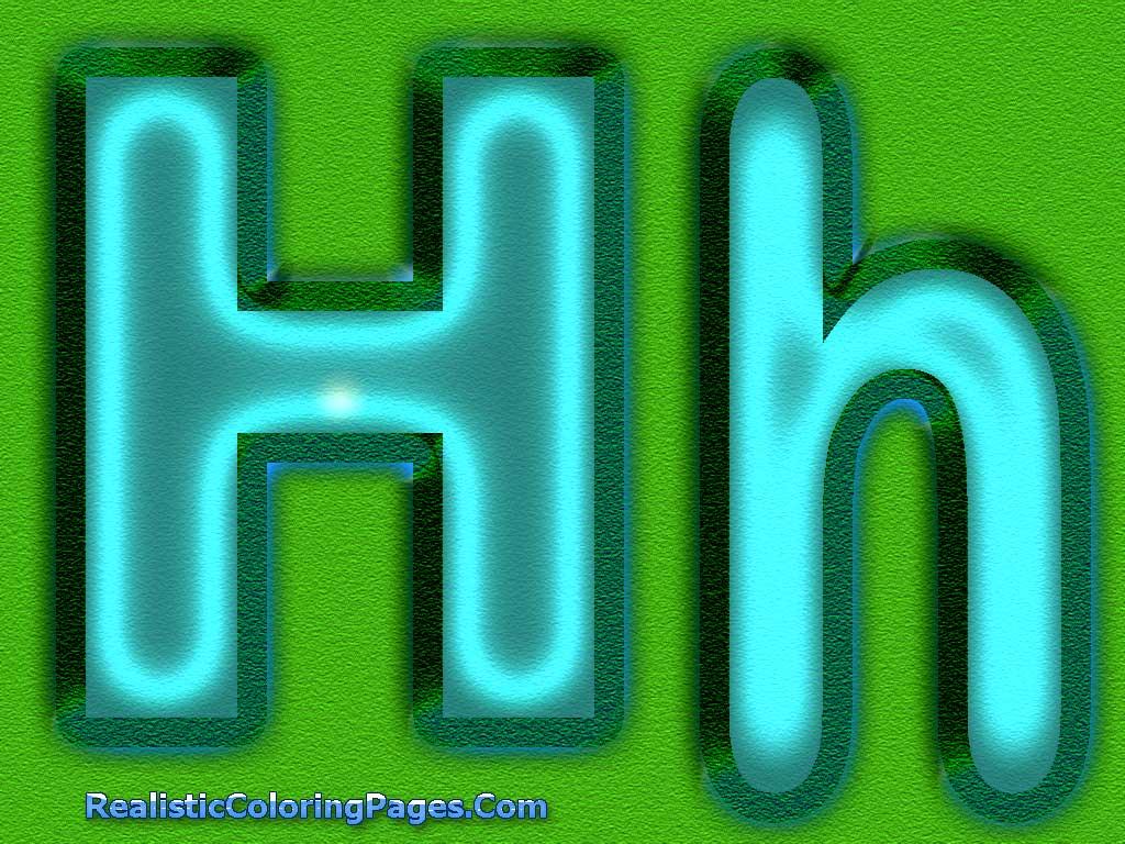 H Letters Alphabet Coloring Pages