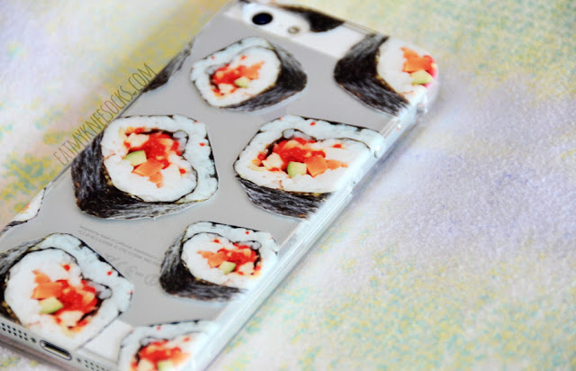 More photos of the quirky, cute sushi rolls phone case from Clash Cases.