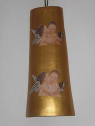 Telha(bronze e ouro)com anjos