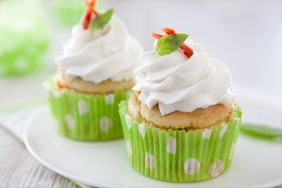 Cupcake Au Chèvre Pistou Et Chorizo