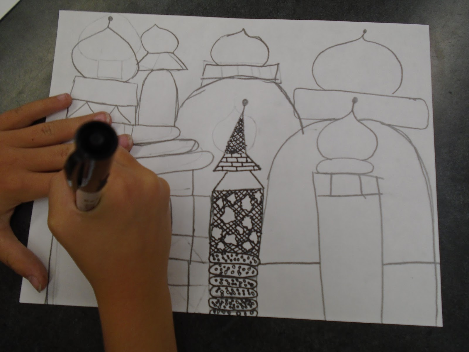 Line Art Lessons For Elementary : Zilker elementary art class th grade st basil s cathedral