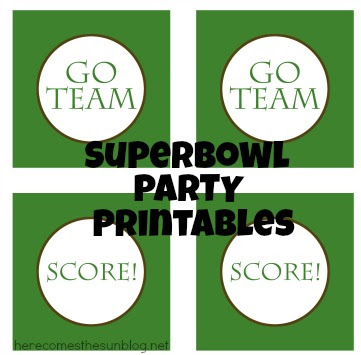 Superbowl Party Free Printables from herecomesthesunblog.net